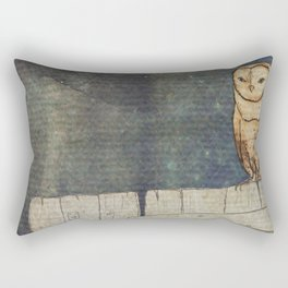 Whoo Goes There? Rectangular Pillow