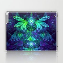The Clockwork Kite Wings of a Blue-Green Dragonfly Laptop & iPad Skin