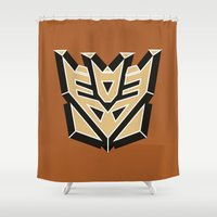 transformers Shower Curtains featuring Transformers by FilmsQuiz