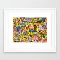 faces Framed Art Prints featuring Faces by Spencer Afonso