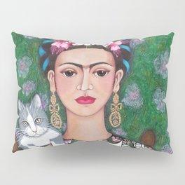 Frida cat lover closer Pillow Sham