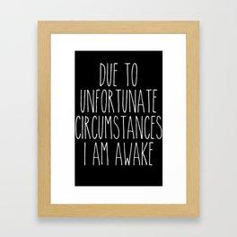 unfortunate circumstances in b&w Framed Art Print