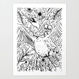 Swan and Snake Art Print