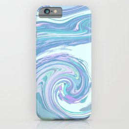 LIGHT BLUE MIX iPhone Case