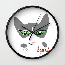 Bitchcat Wall Clock