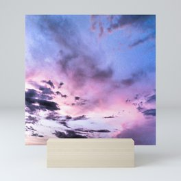 fly up to the blue pink sky Mini Art Print