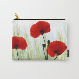 Poppies red 008 Carry-All Pouch