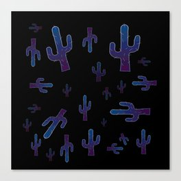 Cactus boys at night Canvas Print