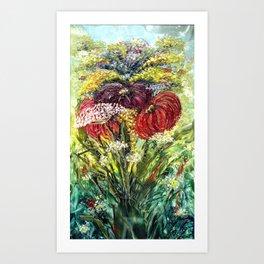 Fantasy Flowers Art Print