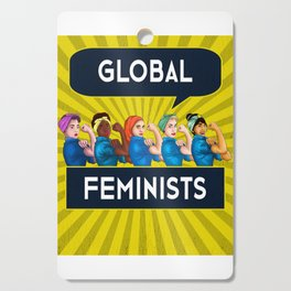 Global Feminists Women Girls design Rosie Riveter Design Cutting Board