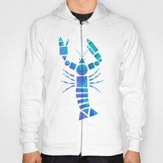 Geometric Blue Lobster Hoody
