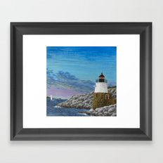 Newport Harbor Lighthouse Framed Art Print