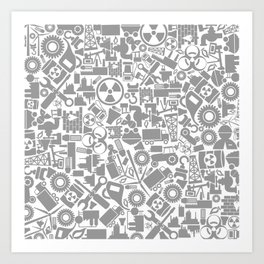 Background the industry Art Print