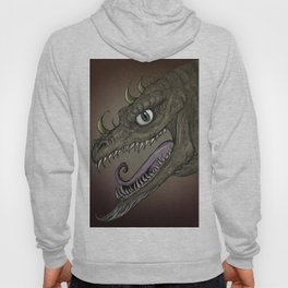Brown dragon illustration Hoody