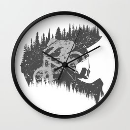 Black Fullface Wall Clock