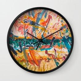 Sky, Lake and Dunes, Exuberant Wall Clock