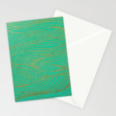Wind Gold Turquoise Stationery Cards