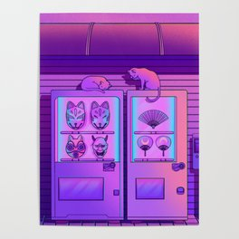 Neon Vending Machines Poster