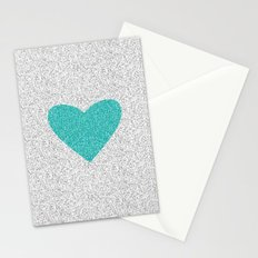 Aqua Love Stationery Cards