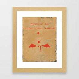 Fight The Empire Framed Art Print