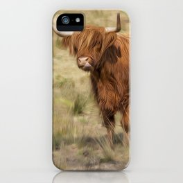 Ginger Scottish Highland cow iPhone Case