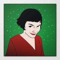 amelie Canvas Prints featuring Amelie by Pendientera