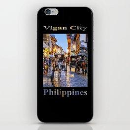 Rush Hour in Vigan City (on black) iPhone Skin