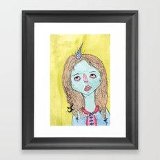 MI CUERNO Framed Art Print