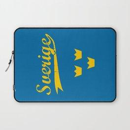 Sweden, Sverige, vintage poster Laptop Sleeve