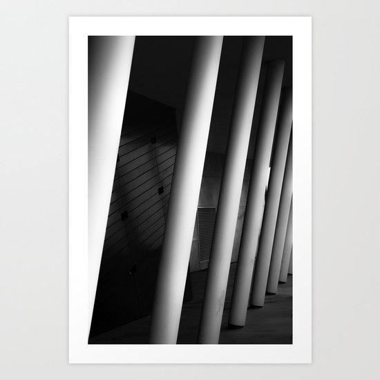 Drag the building Art Print