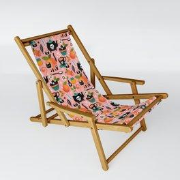 Peachy Tea Time - Pink Sling Chair