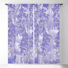 Blue grapes - abstract Blackout Curtain