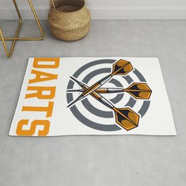 Dart You Can Never Have Too Many Darts Player Gift Rug