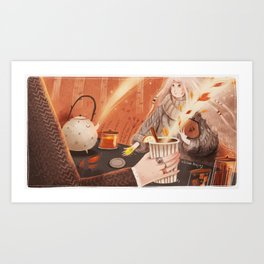 The currency of October Art Print