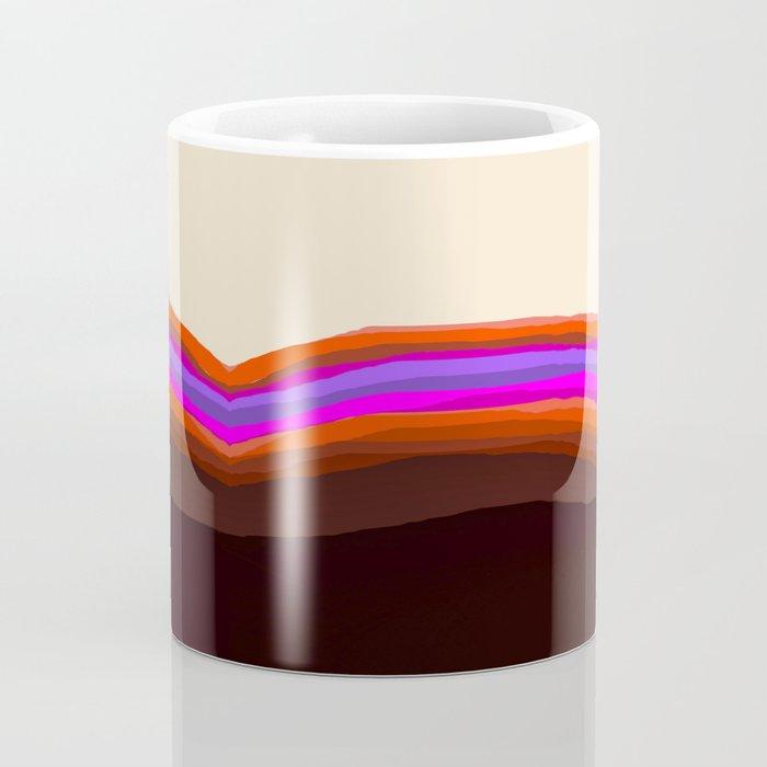 Orange, Purple, and Cream Abstract Coffee Mug