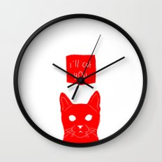 i'll cat you. Wall Clock