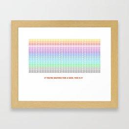 Sign of Love Framed Art Print