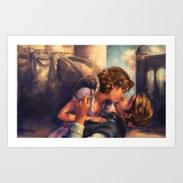 A Kiss for Corona Art Print