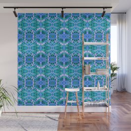 Psychedelic Kaleidoscope Sea Foam Pattern Wall Mural