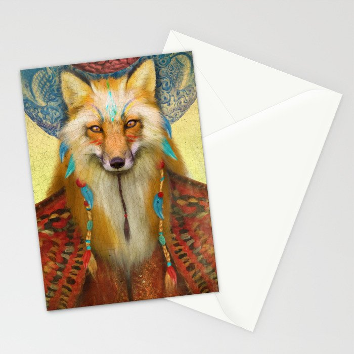 Wise Fox Stationery Cards