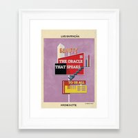 babina Framed Art Prints featuring quote luis barragán by federico babina