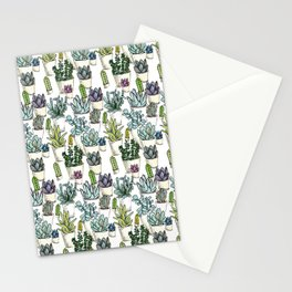 Tiny Cactus Succulents Cacti Stationery Cards
