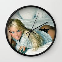 sweater Wall Clocks featuring Sweater by Taylor Brynne-Model