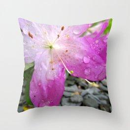 Dewey Pink Flower Throw Pillow