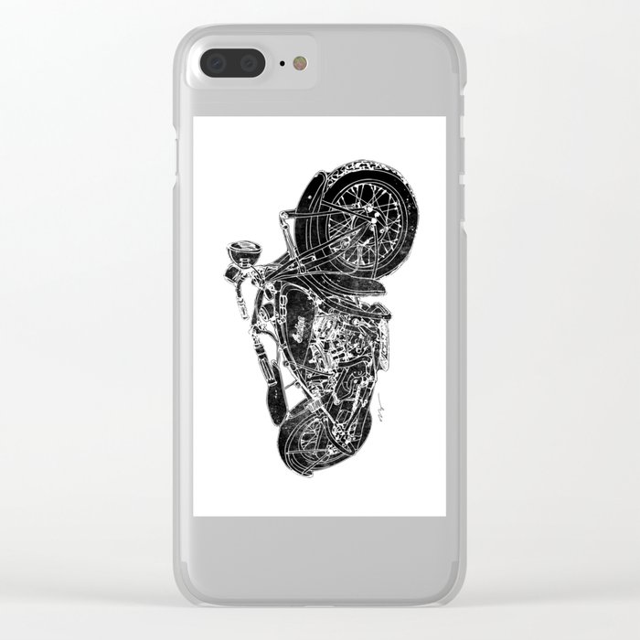 Vintage Indian Motorcycle Clear iPhone Case