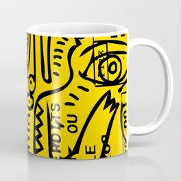 Yellow Street Art Graffiti Train Ticket Coffee Mug