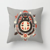 ink Throw Pillows featuring A New Wind by Danny Haas