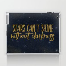 Stars- Darkness - sparkling gold glitter night typography 1 Laptop & iPad Skin