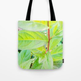 Happy Neon Green Fall Sapling Tote Bag