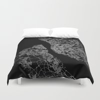 liverpool Duvet Covers featuring Liverpool by Line Line Lines